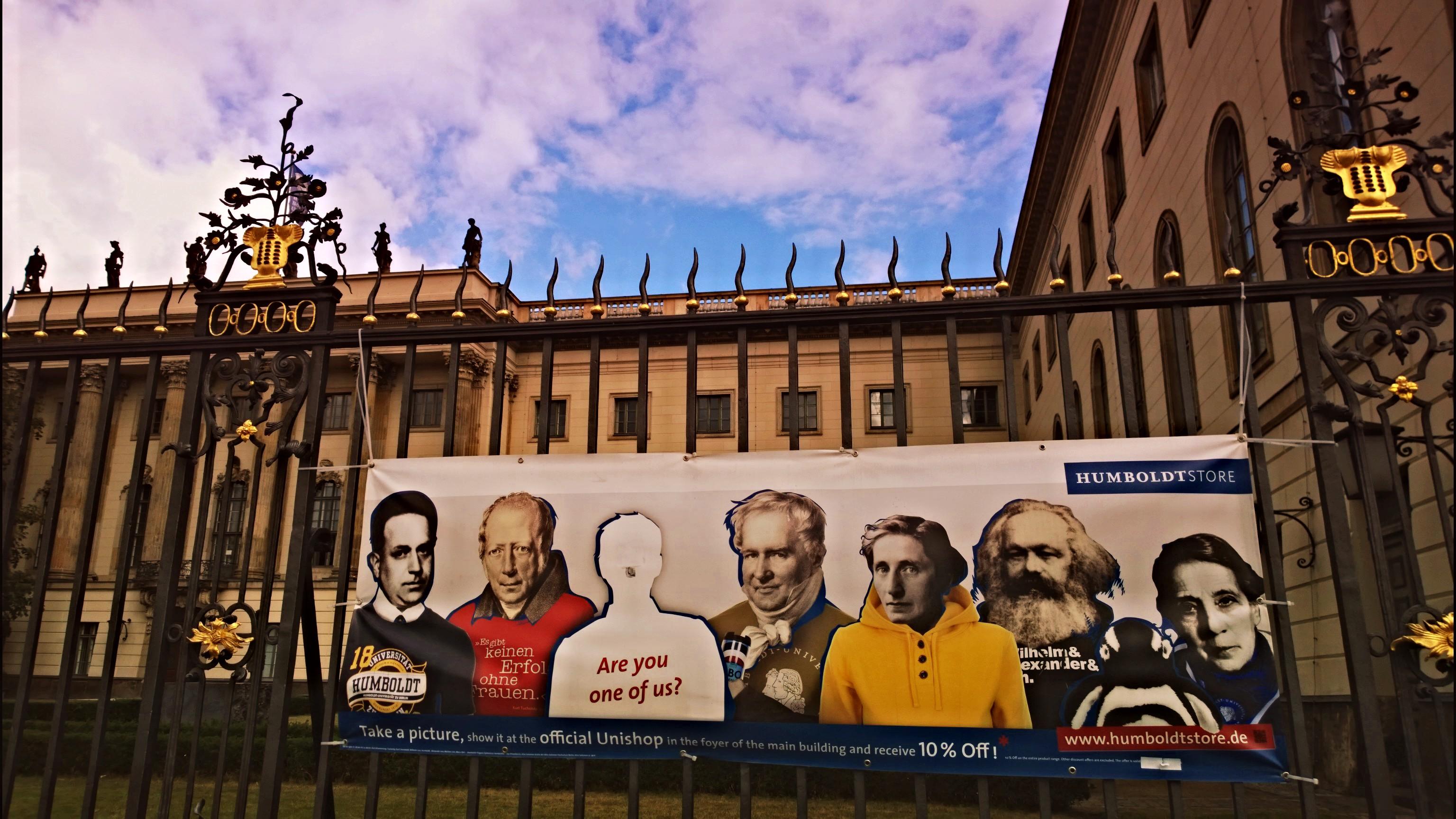 Humboldt Univerzitet, na kom je između ostalih, prikazanih na slici, studirao i Z.Đinđić
